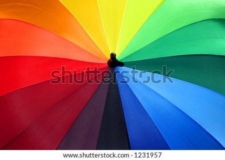 Rainbow Umbrella 1 - stock photo