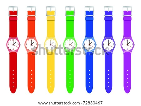 Rainbow Watches - stock photo