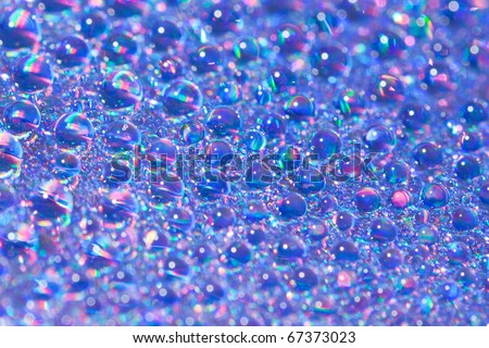 rainbow water drops background - stock photo