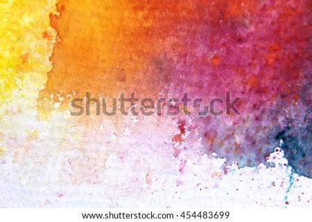 Rainbow Watercolour Background 8 - stock photo