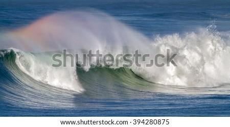 Rainbow Wave - stock photo