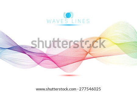 rainbow waves colorful gradient light blend line  abstract - stock photo