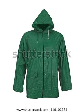 raincoat isolated on white background - stock photo