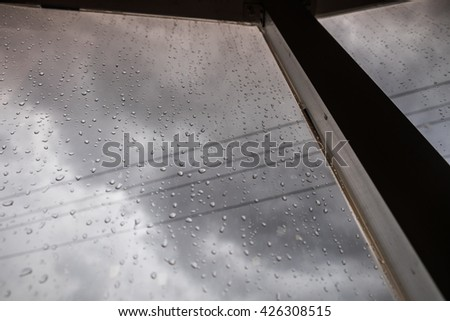 Raindrop at the glasses window