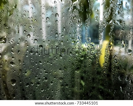 Raindrop on glasses , background.