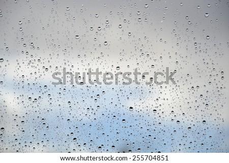 raindrops against the sky - stock photo