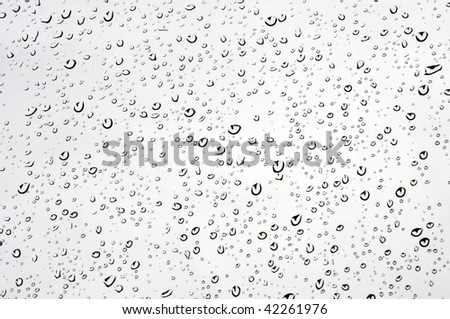 Raindrops on a glass - stock photo
