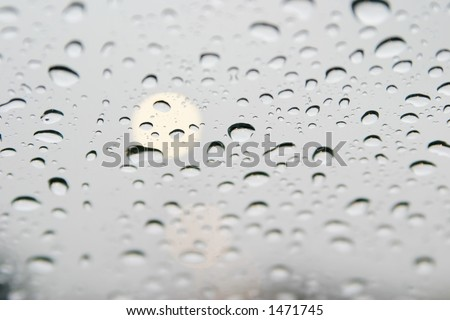 Raindrops on a window - stock photo