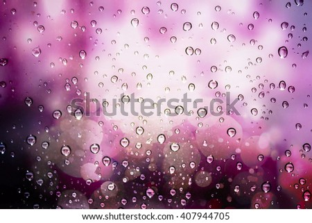 Raindrops on glass - stock photo
