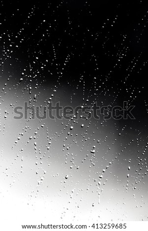 raindrops on glass unfocused