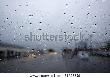 Raindrops on the Windshield