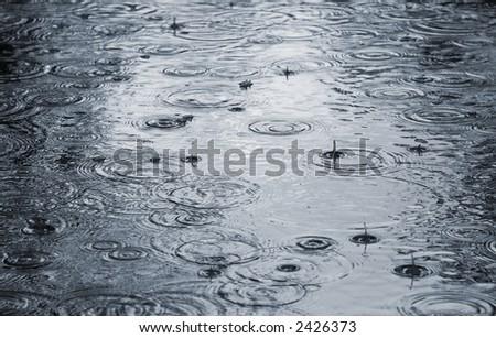 Raining. - stock photo