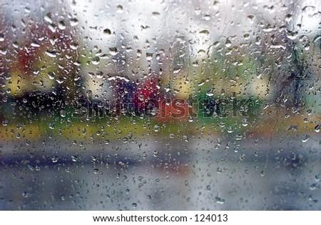 Raining day - stock photo