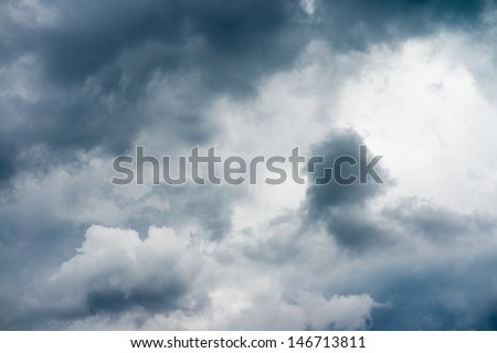 Rainy cloudy sky  - stock photo