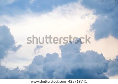 Rainy cloudy sky - stock photo