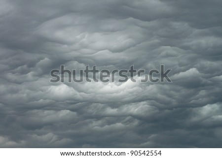 Rainy cloudy sky before the storm - stock photo