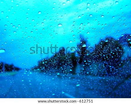 rainy day - stock photo