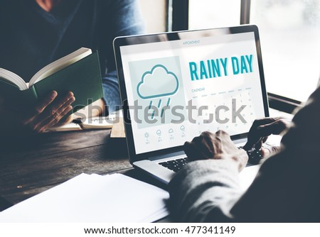 Rainy Day Forecast Weather Rainy Cloud Concept