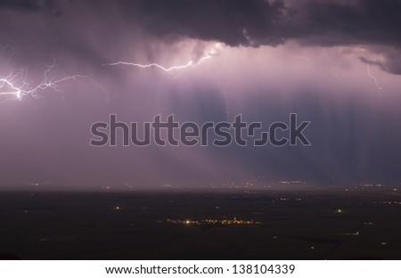 rainy day in Mesopotamia - stock photo