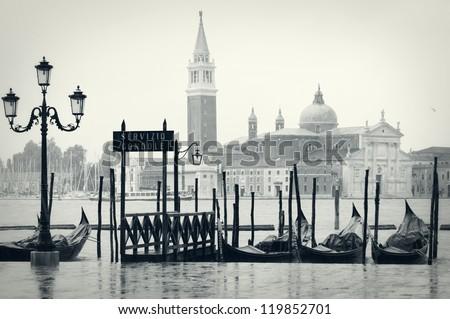 Rainy day in Venice - stock photo