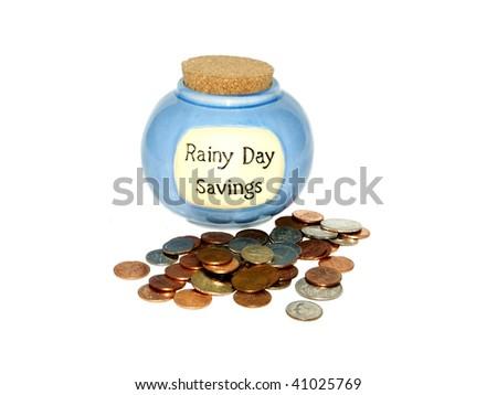 Rainy day savings - stock photo