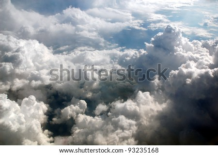 rainy weather view from above . - stock photo