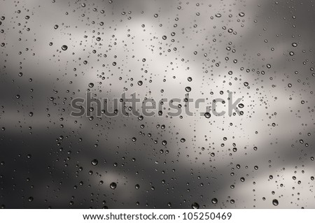 Rainy windows during a storm