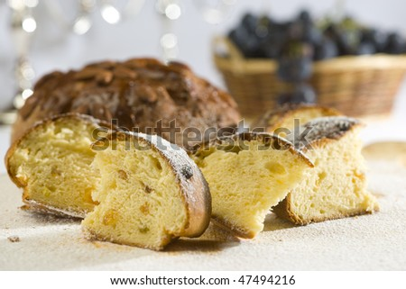 raisin cake - stock photo