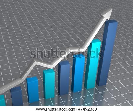 Raising financial statistics - stock photo