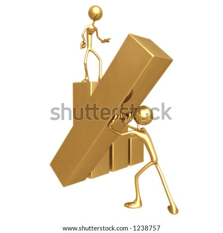 Raising The Bar - stock photo
