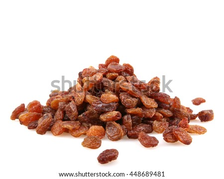 raisins isolated.