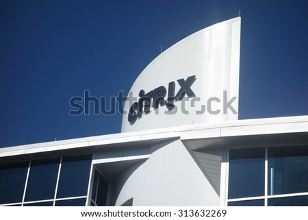 RALEIGH,NC/USA - 9-01-2015:Citrix building in downtown Raleigh, NC                                - stock photo