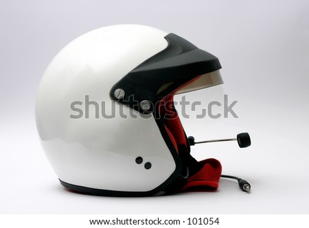 rally racing helmet - stock photo