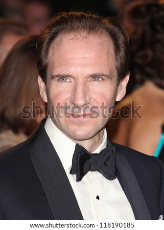 Ralph Fiennes arriving for the Royal World Premiere of 'Skyfall' at Royal Albert Hall, London. 23/10/2012