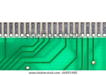 RAM edge connector up close - stock photo