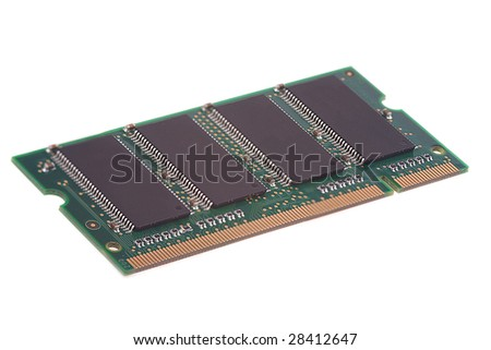 ram memory on white background