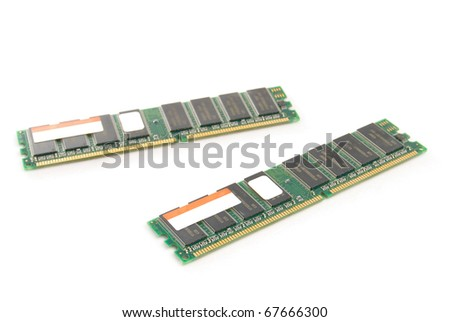 RAM modules, is isolated on a white background