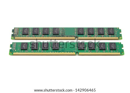 RAM(Random Access Memory) for servers on white background