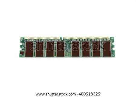 RAM, random access memory on white background. - stock photo