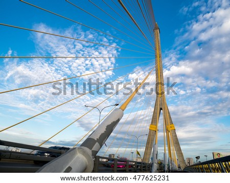 RAMA 8 BRIDGE BULE SKY THAILAND   AUG 31,2016