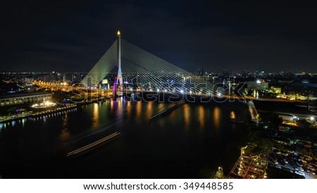 Rama VIII Bridge Thailand. - stock photo
