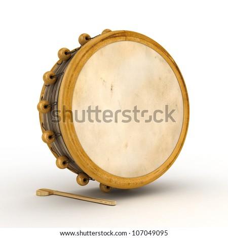 Ramadan drum 3D Rendered Isolated - stock photo