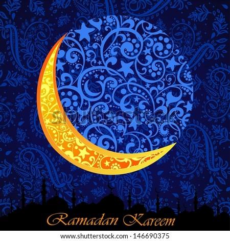 ramadan greetings arabic script islamic greeting stock vector, Greeting card