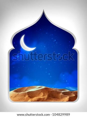 Ramadan Night View - stock photo