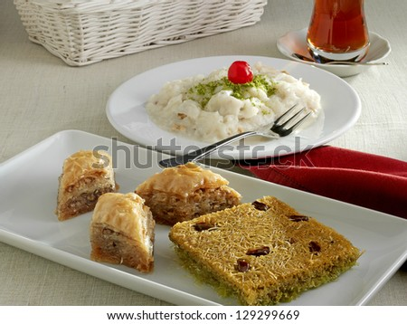ramadan table - stock photo