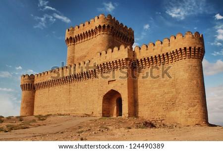 Ramani Castle Azerbaijan XIV age - stock photo