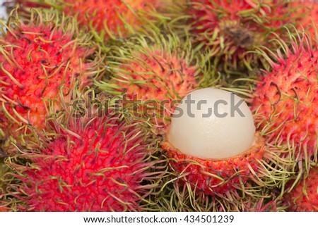 rambutan sweet delicious of fresh Thai rambutans. - stock photo