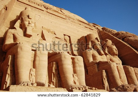 Rameses II Temple in Abu Simbel, Egypt. - stock photo