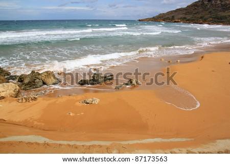 Ramla Bay. Gozo Island, Malta. - stock photo