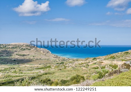 Ramla Bay, located on the northern side of the Maltese island of Gozo.